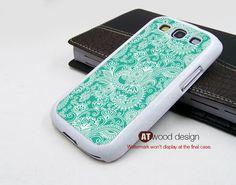 Samsung Galaxy SIII case unique Case Samsung Case classic blue flower Galaxy S3 i9300 Case  graphic design. $14.99, via Etsy.