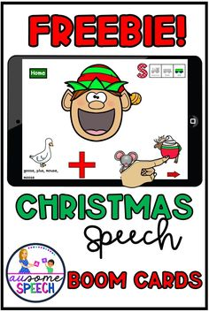 This is a fun interactive freebie game on Boom Learning. Articulation Target: /S/ phoneme in all word positions. Perfect for Christmas Theme. Feed Santa and the gang treats while uncovering target words. No Prep, No Print, which is perfect for teletherapy and distance learning. Communication Activities, Speech Therapy Activities, Language Activities, Speech Pathology, Speech Language Pathology, Speech And Language, Christmas Speech Therapy, High School Activities, Special Education Classroom