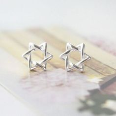 Cool! Unique Winding Hexagram Star Silver Earring Studs just $9.99 from ByGoods.com! I can't wait to get it!