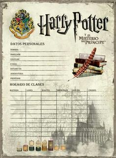 Harry Potter schedules, DIY and Crafts, Harry Potter schedules. Harry Potter Poster, Theme Harry Potter, Harry Potter Spells, Harry Potter Halloween, Harry Potter Hermione, Harry Potter Diy, Harry Potter Movies, Objet Harry Potter, Magia Harry Potter