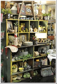 great shelves for storage and display