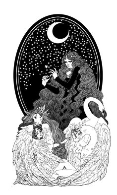 Aoife and the Children of Lir by *trungles on deviantART  The Light Grey Art Lab Tarot Show is going to be epic. So may talented participating artists!