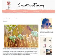 ON Sale 80 Off  Colorful    Blogger Template by Symufathemes, $5.00 Blog Designs, Blogger Themes, Blogger Templates, Layouts, Wordpress, Colorful, Beautiful