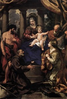 Pietro da Cortona  (Italian: 1596–1669) - Virgin and Child with Saints