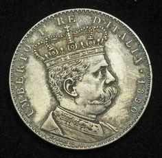 Eritrea Italian Colonial 2 Lire Silver Coin