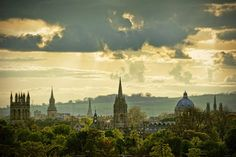 """Oxford, England (known as the """"city of dreaming spires"""", Oxford homes, of course, The University of Oxford, the oldest university in the English-speaking world.)"""