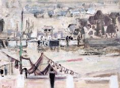 "Alexandr Sacha Garbell, ""View of a Dockside from Northern Paris"", 1903 - 1970."