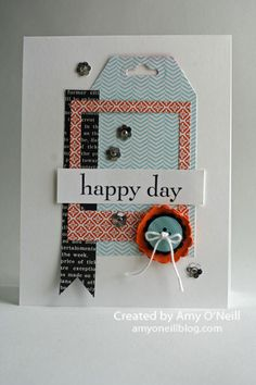 I am in love with this card!  Love the polaroid frame.   Happy Day, Modern Medley DSP, I am Me DSP, Quatrefancy DSP