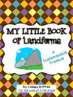 Here's a customizable booklet for students to complete on landforms.