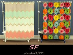 My Sims 4 Blog: Shower Curtain Recolors by Mysimlifefou