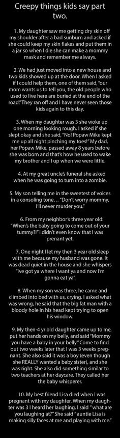 Creepy Things Kids Say Parts 1  2 - Seriously, For Real?