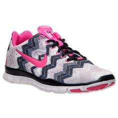 sports shoes 72053 26062 Nike Free TR Fit 3 Print Womens Running Shoes Aztec Pink Black White 555159  015