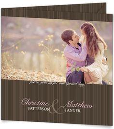 Square Pocket Wedding Invitations - Striped Perfection