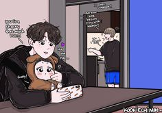 Children from the future (Vkook) - Chapter 24 Jungkook And Jin, Jungkook Fanart, Vkook Fanart, Bts Chibi, Anime Chibi, Vmin, Jin Pic, Bts Maknae Line, Bts Drawings