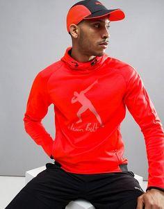 Puma Ub Evostripe Logo Hoodie - Red