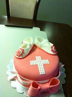 Baptismal cake for baby girl. Baby Girl Christening Cake, Baby Girl Cakes, Cupcake Cakes, Sugar, Desserts, Food, Tailgate Desserts, Deserts, Essen