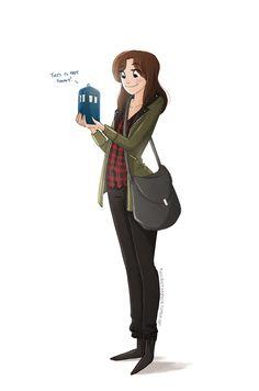 Clara and a pocket Tardis