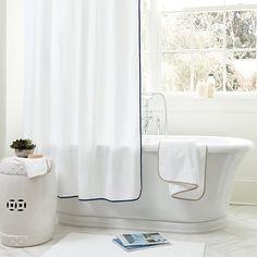 "Suzanne Kasler 72"" Trimmed Shower Curtain"