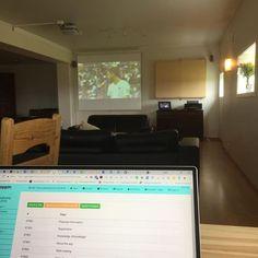 Dagens kontor v.2.0 #gründerliv #familieweekend