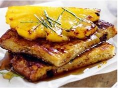 Coconut French Toast with caramelized pineapple