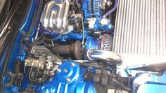 Black turbo coatings on a RX-7 from Rukse High Performance Coatings in Utah.