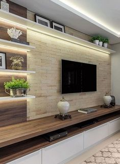 The perfect TV wall ideas that won& sacrifice your looks - 05 -. - The perfect TV wall ideas that won& sacrifice your looks – 05 – closet – # living room - Modern Tv Room, Modern Tv Wall Units, Modern Hall, Modern Living, Luxury Living, Contemporary Tv Units, Contemporary Homes, Living Room Tv Unit Designs, Living Room Wall Units