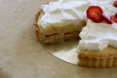 Strawberry Banana Cream Pie for On the Lamb by joy the baker, via Flickr