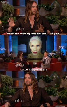 Oh, Ellen, she knows what she wants, what we all want ;)