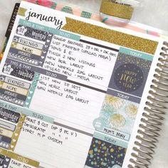 Erin Condren Life Planner,  January Planner Page Layout, Erin Condren Weekly Kit