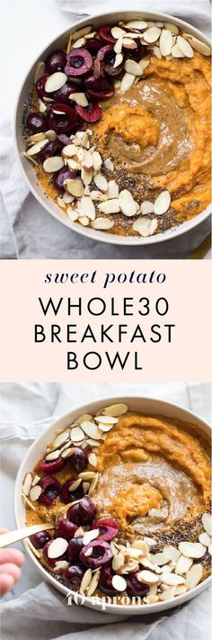 This sweet potato breakfast bowl is the perfect breakfast: quick and easy a bit naturally sweet packed with protein fiber and healthy fats. It's strangely delicious considering how simple of a recipe it is! This sweet potato b Whole 30 Breakfast, Breakfast Bowls, Healthy Breakfast Recipes, Paleo Recipes, Cooking Recipes, Detox Breakfast, Budget Recipes, Breakfast Healthy, Mexican Breakfast