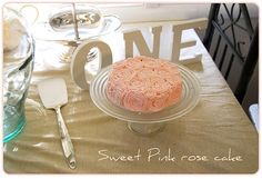 "1st birthday table decor? ""ONE"" on the table, too cute"