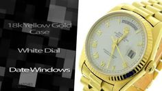 Men's #Rolex Watch Day Date Single Quick 18k Yellow Gold Automatic Watch