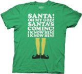 I need this...Amazon.com: Elf Smiling's My Favorite Heathered Green Adult T-shirt Tee: Clothing