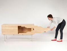 Un mueble de madera que desdibuja sus límites|Espacios en madera