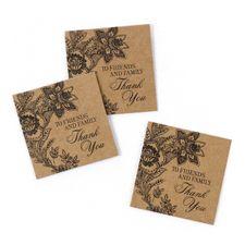 Vintage Floral Favor Cards - Kraft