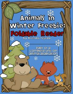 FREEBIE: 'Bears in Winter' Foldable Reader. Repinned by  SOS Inc. Resources http://pinterest.com/sostherapy.