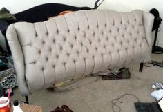9 Fascinating Useful Ideas: Upholstery Seat Couch upholstery footstool grain sack.Upholstery Repair Step By Step. Diy Furniture Redo, Furniture Slipcovers, Repurposed Furniture, Furniture Ideas, Upholstery Repair, Furniture Upholstery, Upholstery Tacks, Upholstery Cleaning, Bedroom Decor