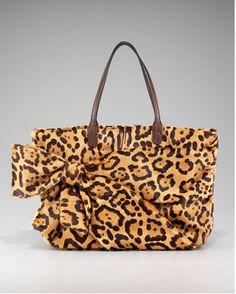 Valentino Leopard Hair Calf Bow Tote Leopard Hair, Leopard Animal, Leopard Fashion, Animal Print Fashion, Handbag Accessories, Fashion Accessories, Cheetah Print, Leopard Prints, Animal Prints