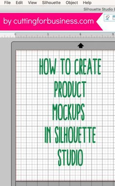 How to Create Product Mockups in Silhouette Studio Cutting for Business - Product Mockups - Ideas of Product Mockups - How to Create Product Mockups in Silhouette Studio by cuttingforbusines Silhouette School, Silhouette Cutter, Silhouette Curio, Silhouette Portrait, Silhouette Machine, Silhouette America, Silhouette Files, Silhouette Cameo Shirt, Silhouette Vinyl