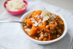 Butternut Squash, Chickpea and Red Lentil Stew