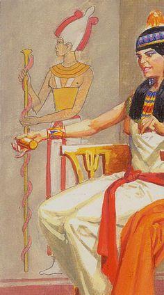La reine d'écus - Ramsès : Tarot de l'éternité par Severino Baraldi