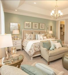 Accent Wall Ideas You'll Surely Wish to Try This at Home Bedroom, Living Room,.Accent Wall Ideas You'll Surely Wish to Try This at Home Bedroom, Living Room,.Home Wall Ideas Master Bedroom Design, Dream Bedroom, Home Bedroom, Bedroom Green, Bedroom Accent Walls, Spa Like Bedroom, Master Suite, Duck Egg Blue Bedroom, Brick Bedroom