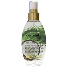 OGX Nourishing Coconut Oil Weightless Hydrating Oil Mist, 4 Ounce Spray Bottle, Hydrating and Softening Sulfate-Free Surfactants >>> You can find out more details at the link of the image. (This is an affiliate link) Ogx Coconut Milk, Natural Coconut Oil, Coconut Oil For Acne, Coconut Oil Hair Mask, Coconut Oil Spray, Coconut Oil Hair Treatment, Coconut Oil Hair Growth, Leave In, Oil For Curly Hair