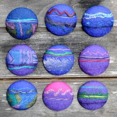 Itza magnetic brooches hand made felts
