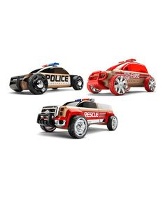 Another great find on #zulily! Three-Piece Mini Emergency Vehicles Set #zulilyfinds
