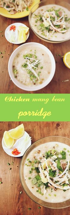 Chicken mung bean porridge