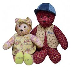 Our Teddy Bear Keepsake Urns come in one size of tall and are completely personalized. Each is made from your loved one's clothing. You can choose a favorite dress, shirt or a combination of clothing. Personalised Teddy Bears, Keepsake Urns, Losing A Loved One, One Clothing, Sympathy Gifts, Dress Shirt, First Love, Children, Animals