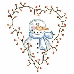 Vintage Snowman 3 Set, 12 Designs - 3 Sizes! | What's New | Machine Embroidery Designs | SWAKembroidery.com