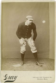 Unusual photos of 19th century baseball players