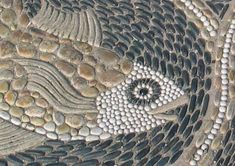 "A Maggie Howarth close-up. I have all her books and videos on pebble mosaic ""how to""..."